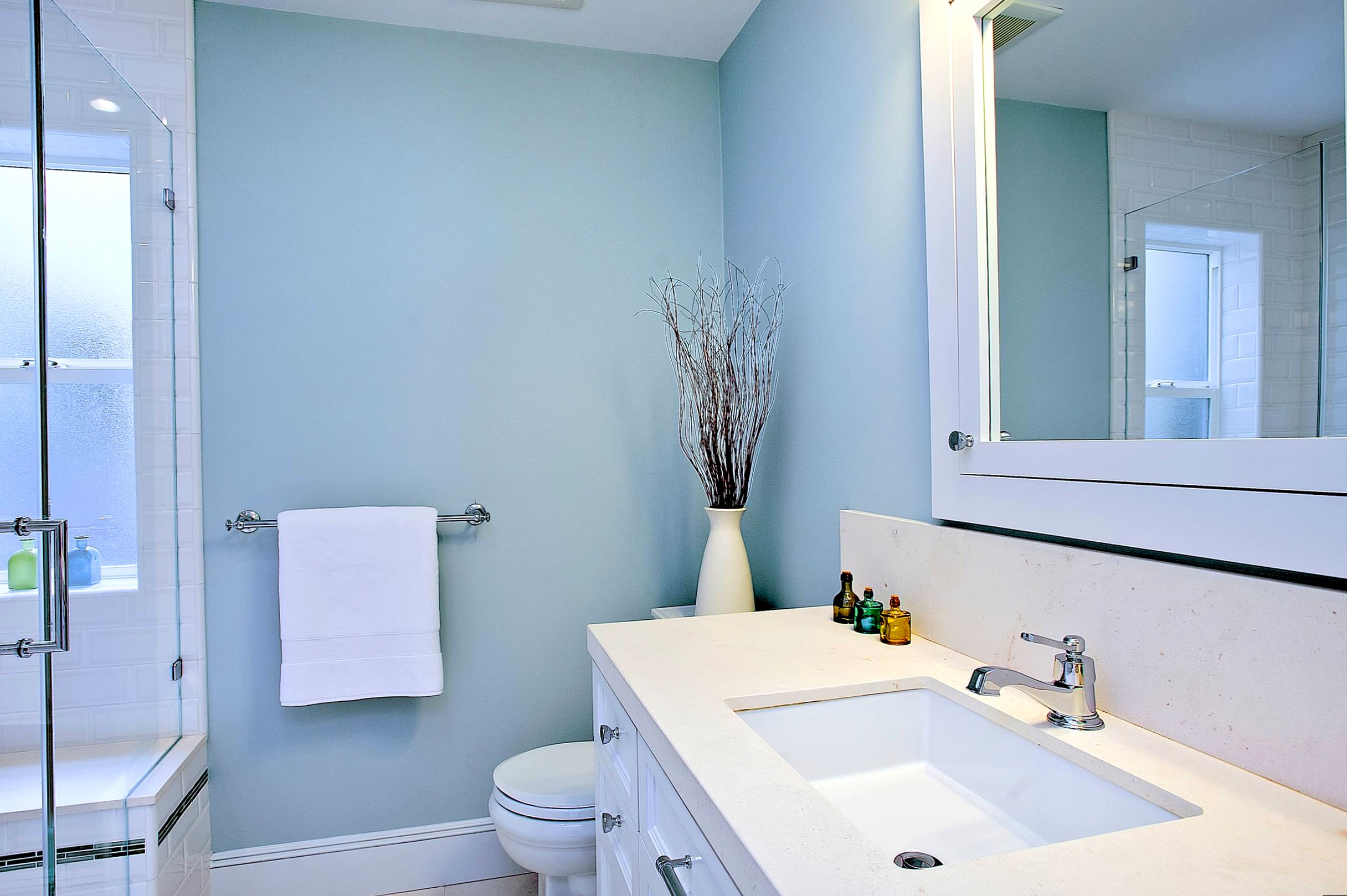 Painted bathroom
